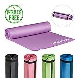 Relaxdays Yogamatte gepolstert, 1 cm dicke Übungsmatte, Für Pilates, Aerobic, Gymnastik, HBT: 1 x...