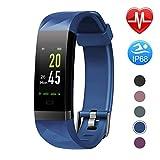 Letsfit Fitness Armband Farbbildschirm mit Pulsmesser, Fitness Tracker IP68 Wasserdicht 0,96 Zoll...