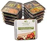 |10 pack| 3 fach Meal Prep Container. Frischhaltedosen Bento-Box Set mit Deckel. Spülmaschine,...