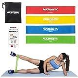Fitnessbänder / Widerstandsbänder, 4er Set von Panathletic, mit Anleitung, eBook und Tragebeutel...