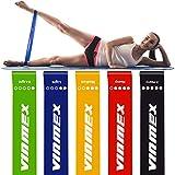 VINMEX Fitnessbänder 5er Set, Fitnessband, Gymnastikband, Widerstandsbänder, Resistance Bands,...