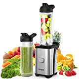 homgeek Mixer, Smoothie Maker, 350 Watt Mini Standmixer, 2x600ml Sport-Flasche BPA-frei Tritan,...