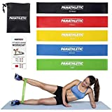 Fitnessbänder / Widerstandsbänder, 5er Set von Panathletic, mit Anleitung, eBook und Tragebeutel...