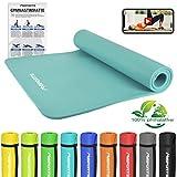 MSPORTS Gymnastikmatte Premium inkl. Übungsposter + Tragegurt + Workout App GRATIS |...