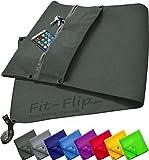 Fit-Flip 3-TLG Fitness-Handtuch Set mit Reißverschluss Fach + Magnetclip + extra Sporthandtuch |...