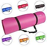 Premium Yogamatte, Gymnastikmatte, Fitnessmatte, Trainingsmatte oder zuhause mit Schultertragegurt...