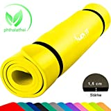MOVIT XXL Pilates Gymnastikmatte, Yogamatte, phthalatfrei, SGS geprüft, 190 x 100 x 1,5cm oder 190...