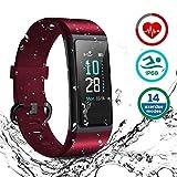 HOMVILLA Fitness Armband, Fitness Tracker Smartwatch Wasserdicht IP68 Aktivitätstracker mit...