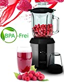 Standmixer 1.500 Watt Glas Edelstahl | Smoothie Maker | Mixer | Universal Power Mixer | 1,3 Liter |...