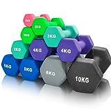 arteesol Neopren Hanteln, Kurzhanteln 2er-Set 1kg/2kg/3kg/4kg/5kg/8kg/10kg rutschfest Fitness...