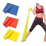 Fitnessband 3er Set 150 x 15 cm Theraband Gymnastikband Lang Fitnessbänder Widerstandsbänder in 3...