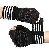 Tomuku Fitness Handschuhe Trainingshandschuhe mit Handgelenkstütze Gewichtheben Handschuhe für...