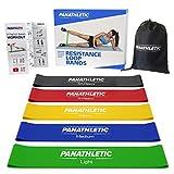 Panathletic Fitnessbänder, Set von 5 Bändern unterschiedlicher Stärke, 30x5 cm, aus 100%...