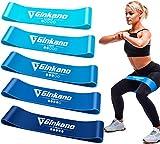 Haquno Widerstandsbänder [5er Set] Fitnessband Gymnastikband 100% Naturlatex Theraband mit...