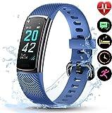 LETSCOM Fitness Tracker mit IP68 Wasserdicht Pulsmesser, Fitness Armband Kalorienzähler...