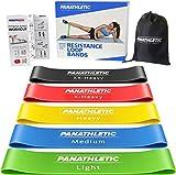 Panathletic Fitnessbänder, 5er Set – 5 Verschiedene Stärken, Übungsanleitung, eBook auf...