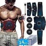 EMS Bauchmuskeltrainer USB Wiederaufladbar EMS Trainingsgerät für Arm Bauch Beine Bizeps Trizeps...