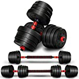 RE:SPORT 2 in 1 Hanteln Set 30 kg | Hantelset verstellbar | Kurzhantel & Langhantel |...