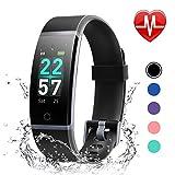 LETSCOM Fitness Armband mit Pulsmesser, Fitness Tracker IP68 Wasserdicht 0,96 Zoll Farbbildschirm...