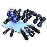 TOMSHOO Fitness Geräte, AB Roller Bauchtrainer und Rutschfester Kniematte Fitness Geräte für...