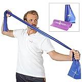hoopomania Fitnessband - Gymnastikbänder für Yoga, Pilates oder Rehabilitation, Blau, 150 x 15 cm,...